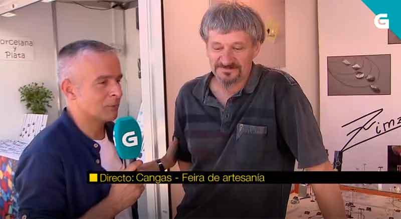 Camilo de ZIMZELATUM entrevistado en la TVG